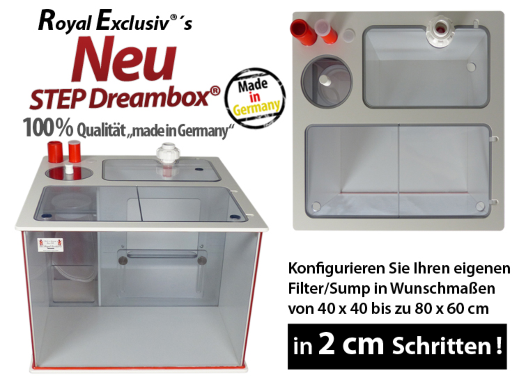 Royal Exclusiv STEP Dreambox filter system reefer reef sumpf