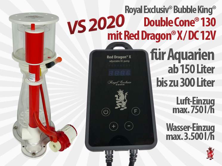 Royal Exclusiv Bubble King Double Cone 130 Red Dragon X neue Pumpen Serie