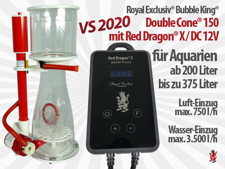 Royal Exclusiv Bubble King Double Cone 150 Red Dragon X neue Pumpen Serie
