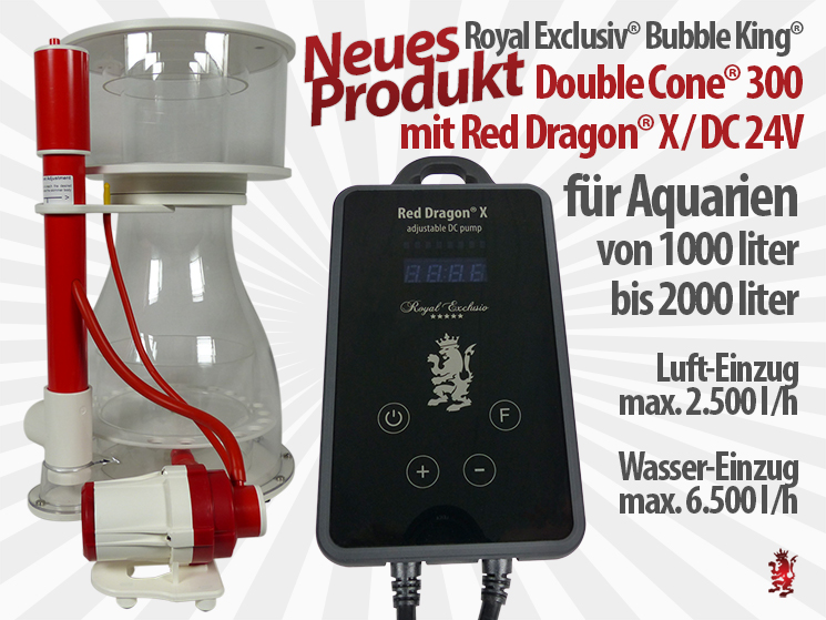 Royal Exclusiv Bubble King Double Cone 300 Red Dragon X neue Pumpen Serie neuer Abschäumer