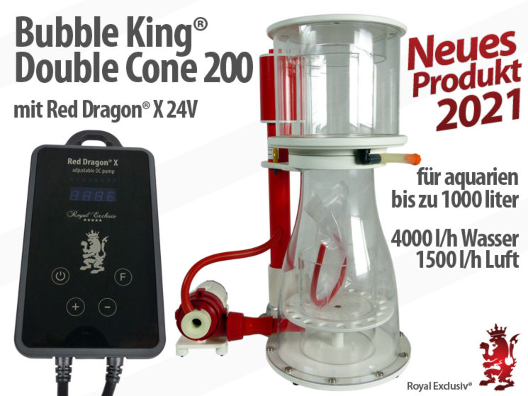 Royal Exclusiv Bubble King Double Cone 200 Red Dragon X pumpe