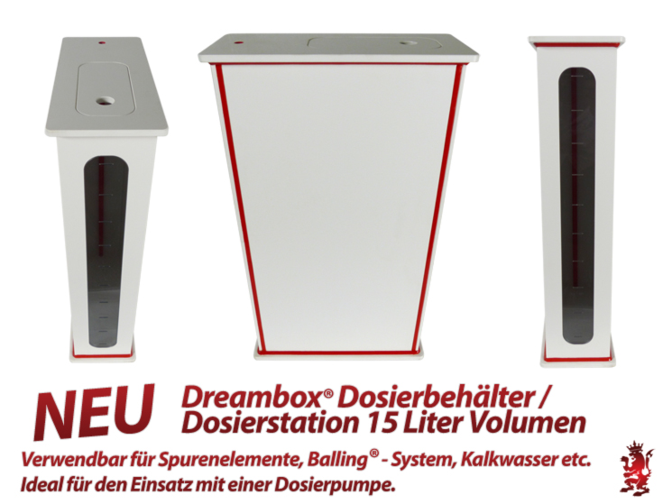Royal Exclusiv Dreambox - Dosierbehälter / Dosierstation 15 Liter Volumen