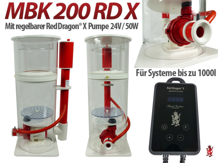 Royal Exclusiv Abschäumer MiniBubbleKing 200 MBK mit pumpe Red Dragon X