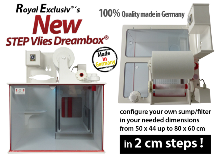 Royal Exclusiv STEP Vlies fleece Dreambox filter system reefer reef sump