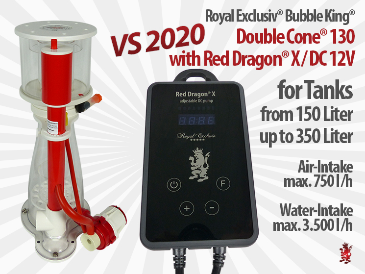 Royal Exclusiv Bubble King Double Cone 130 with Red Dragon X new Pump Series