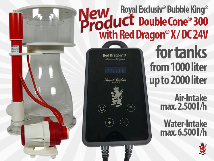 Royal Exclusiv Bubble King Double Cone 300 Red Dragon X new Pump Pumps  Serie new skimmer