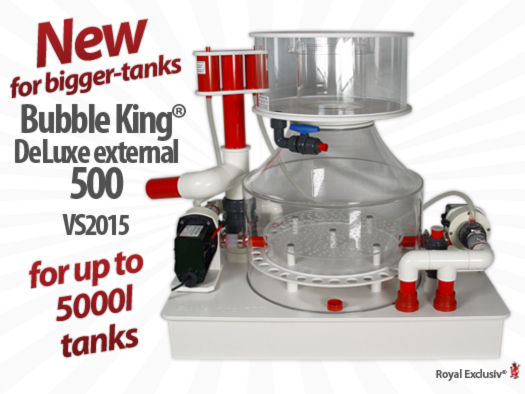 Royal Exclusiv Bubble King DeLuxe 500 external 2015 skimmer