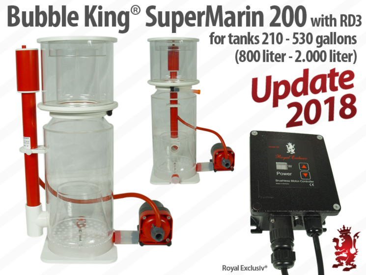 Royal Exclusiv Bubble King Supermarin 200 Red Dragon 3 skimmer
