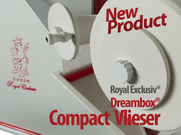 Royal Exclusiv Dreambox COMPACT Vlieser roll rolling fleece