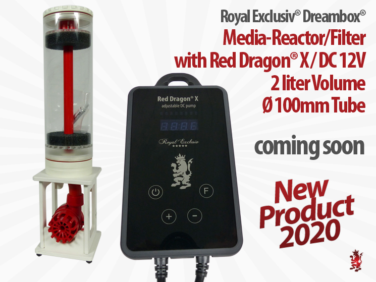 Royal Exclusiv Dreambox COMPACT Medien filter reaktor mit Red Dragon X Pumpe DC Podest