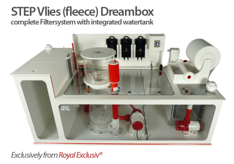 Royal Exclusiv STEP DREAMBOX VLIES rolling FLEECE filter system with integrated Water tank
