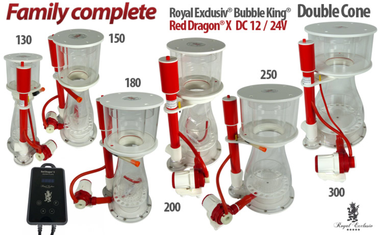 Royal Exclusiv Bubble King Double Cone Red Dragon X pumpe Eiweiss Abschäumer