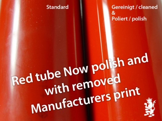 red PVC pipe polish
