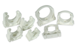 pipe clips white