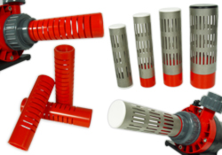 Slot pipes / split tubes / protection for pumps