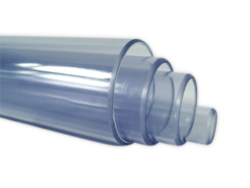 PVC Rohr transparent