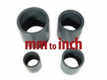 PVC pipe socket / bushing Ø 63mm - 2  grey